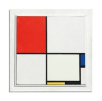 Composition No. III, with Red, Blue, Yellow, and Black, 1929